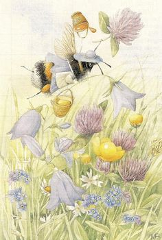 *Mrs. Bumblebee in Vera the Mouse's garden - MB!