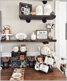 Beautiful coffee bar display for Halloween Coffee Bar Design, Coffee Bar Home, Home Coffee Stations, Coffee Corner, Coffee Bars, Ninja Coffee, Cafe Bar, Fall Home Decor, Ideas