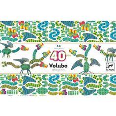 djeco 3d knutselpakket volubo draken (40st) DJ05632 | ilovespeelgoed.nl