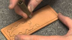 Carving Leather Part 2 With Leather Crafter and Saddle Maker Bruce Chean...