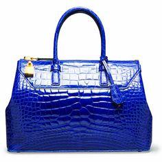 Tom Ford blue croc doctor bag