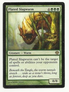 Plated Slagwurm x1 MTG MP Duel Decks: Garruk Vs. Liliana Green Magic Card EDH #WizardsoftheCoast