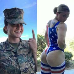 Beautiful women who look just as sexy out of their uniform as they do in it Military Girl, Female Soldier, Military Women, Girls Uniforms, Sporty Girls, Instagram Models, White Girls, Beautiful Women, Crossfit Transformation
