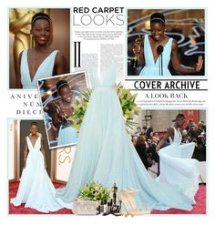Lupita Nyong'o - Oscars 2014 by productionkid on Polyvore featuring polyvore, fashion, style, Chinese Laundry, Oscar de la Renta, Looking Glass, Sinclair, Kershaw, clothing, RedCarpet, Oscars, LupitaNyongo, oscars2014 and OscarsThrowback