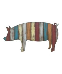 This Striped Pig Wall Art is perfect! #zulilyfinds
