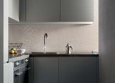 Fabric   Concrete Effect   Kitchen #marazzi #walltiles #kitchen  #kitcheninterior #mosaic