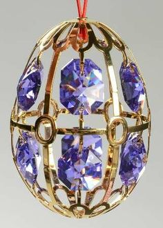 Faberge Crystal Christmas Ornament.