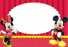 Minnie y Mickey: Imprimibles, Invitaciones y Tarjetas Gratis ...