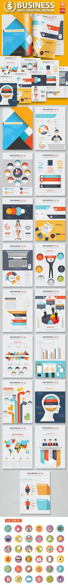 Business Infographic Design 17 Pages Template Vector EPS, AI. Download: http://graphicriver.net/item/business-infographic-design-17-pages/12324562?ref=ksioks