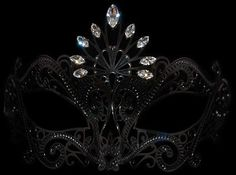 Pavone Strass Laser-cut Mask with Swarovski crystals from Venice