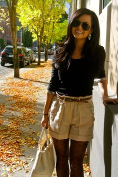 Shorts in the fall…totally a thing! Great style ideas to use pieces in your closet ALL year round! :)
