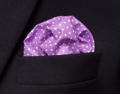 Items similar to Men's Purple Pocket Square - Premium Cotton White Dots Suit Accessory Handkerchief Elegant Gift for Him on Etsy Pocket Square, Dots, Wallet, Purple, Trending Outfits, Unique Jewelry, Handmade Gifts, Clothes, Vintage