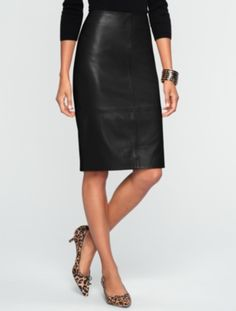 Talbots - Leather Pencil Skirt | Skirts | Misses Discover your new look at Talbots. Shop our Leather Pencil Skirt for stylish clothing and accessories with a modern twist at Talbots