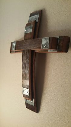 Stacked wine barrel cross