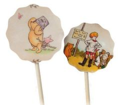 Classic Winnie The Pooh Cupcake Toppers Food Picks by ToadHollowNJ