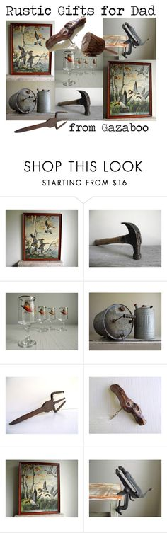 Rustic Gifts for Dad by gazaboovintage on Polyvore featuring interior, interiors, interior design, home, home decor, interior decorating, Libbey, rustic and vintage