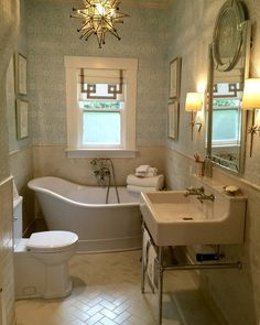 Here's the gorgeous finished  Engelhardt Hall bathroom with Crossville tiles designed by the talented Lisa Mende of @LisaMendeDesign for @TraditionalHome's Napa Valley Designer Showhouse Festival!  #TradHomeNapaSH #LisaMendeDesign #interiordesign #craftsman #bungalow by crossvilleinc
