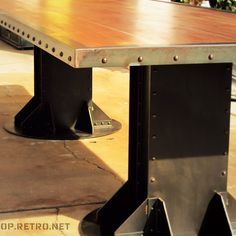 I Beam Dining Table | Vintage Industrial Furniture. How awesome is this!