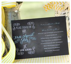 Most Special Day and three other Chalkboard Wedding Invitations from Ann's Bridal Bargains