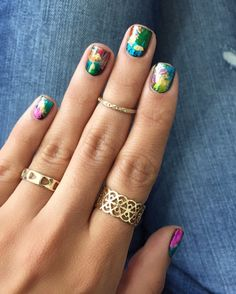 For nails this perfect, opt for a nail foil + go to town with a whimsical color palette.