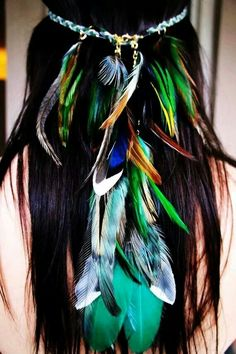 awesome feather hairband #accesories #hair #dermorganic
