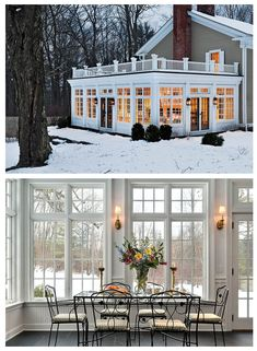 I love this amazing stately white sunroom addition. It definitely has to be ou I love this amazing stately white sunroom addition. It definitely has to be ou Sunroom Addition, Family Room Addition, Four Seasons Room, 4 Season Room, Room Additions, Outdoor Rooms, Great Rooms, My Dream Home, Future House