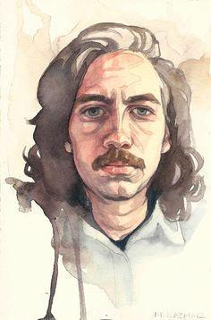 4x6 Watercolor Portrait by CognitiveTranslation on Etsy https://www.etsy.com/sg-en/listing/273739070/4x6-watercolor-portrait