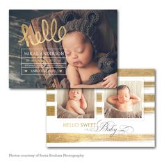 Hello There - Baby Announcement card template available through Jen Boutet Photography with your newborn portrait session in Charlottesville, Va. www.jenboutet.com