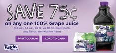 AD Welch's is proud to bring you 100% fruit juices - 2 servings of fruit in every glass, no added sugar and a taste the whole family will love. Best of all is that they're offering a coupon for their juices! Go ahead and take a look -> https://ooh.li/f310284