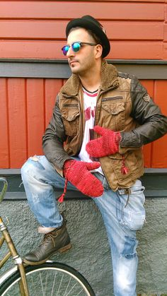 Lovikka mittens swedish mittens men size red by JezebelAdrian