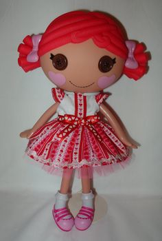 Valentine's Day dress for Lalaloopsy doll