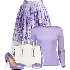 A fashion look from March 2018 featuring Michael Kors tops, Chicwish skirts and Christian Louboutin pumps. Browse and shop related looks. Work Fashion, Curvy Fashion, Fashion Looks, Plus Fashion, Womens Fashion, Petite Fashion, Fashion Tips, Modesty Fashion, Fashion Dresses