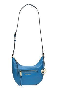 MICHAEL Michael Kors 'Small Rhea' Zip Detail Shoulder Bag