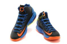 8d11f8bbe170 GS Black Photo Blue Team Orange Nike Zoom KD V 554988 046 Basketball Shoes  On Sale