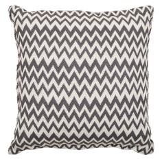 Charcoal Zig Zag Pillow | Haus Interior