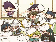 Chibi NDRV3 boys pillow fight Check out 湯丸 (@yumarumaruyuma): https://twitter.com/yumarumaruyuma?s=09