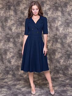 Платье OLIVEGREY. Цвет темно-синий.