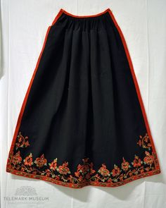Norwegian Clothing, Folklore, Norway, Diva, Popular, Embroidery, Patterns, Skirts, Clothes