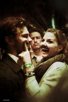 Once Upon a Time- Love it! Jamie Dornan and Jennifer Morrison. Adorable. I miss Graham and Emma!