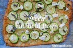 FatHead pizza just got better - green FatHead pizza is incredible, fresh and healthy. Pin for later and try it out this weekend. | ditchthecarbs.com