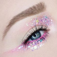 Glittery eyeshadow.