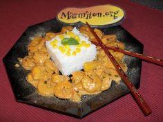 Crevettes Thailandaises à la mangue : Recette de Crevettes Thailandaises à la mangue - Marmiton