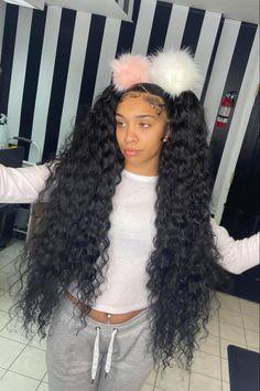 Hair Ponytail Styles, Ponytail Bun, Braided Ponytail Hairstyles, Baddie Hairstyles, Black Girls Hairstyles, Weave Hairstyles, Cute Hairstyles, Curly Hair Styles, Natural Hair Styles
