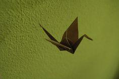Paper Bird Mobile (brown) by LittleWanderingArt on Etsy