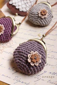 crochet purse, monedero de ganchillo