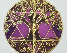 Mandala de árbol espiritual espiritual de la por HeavenOnEarthSilks