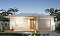 Biệt thự 1 tầng mái thái NETBT1T19 PA5 Car Garage, Garage Doors, My House, Shed, Outdoor Structures, Outdoor Decor, Home Decor, Decoration Home, Room Decor