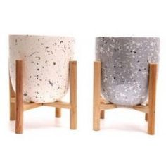 Terrazzo Candle On Stand will effortlessly suit various interior styles. Whether placed on your sideboard or windowsill, these candle holders are a Large Candles, Window Sill, Terrazzo, Interior Styling, Grey And White, Candle Holders, London, Table, Furniture