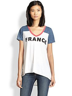 Chaser France Printed Hi-Lo Tee