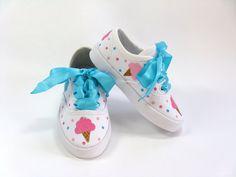 Zapatos de helados helado tema zapatillas fiesta cumpleaños